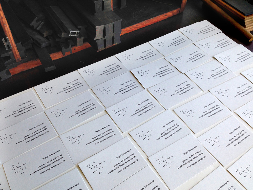 Peggy Seelenmeyer Letterpress Business Cards